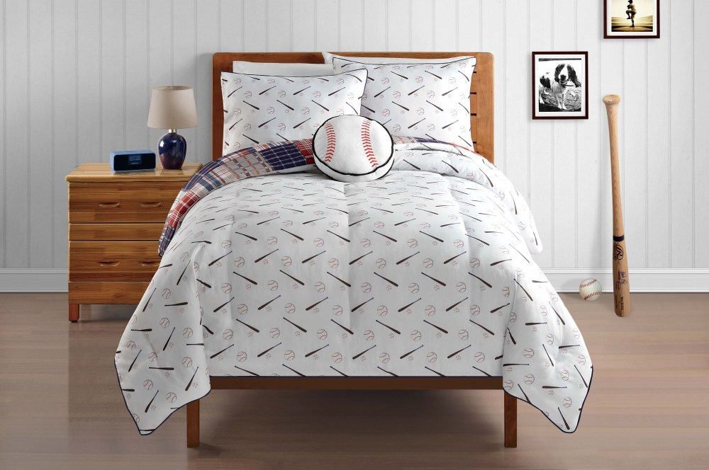 Baseball Comforter Set Twin
