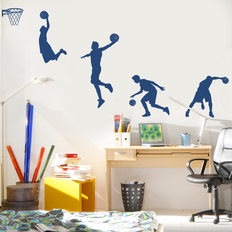 Basketball Court Wall Decal