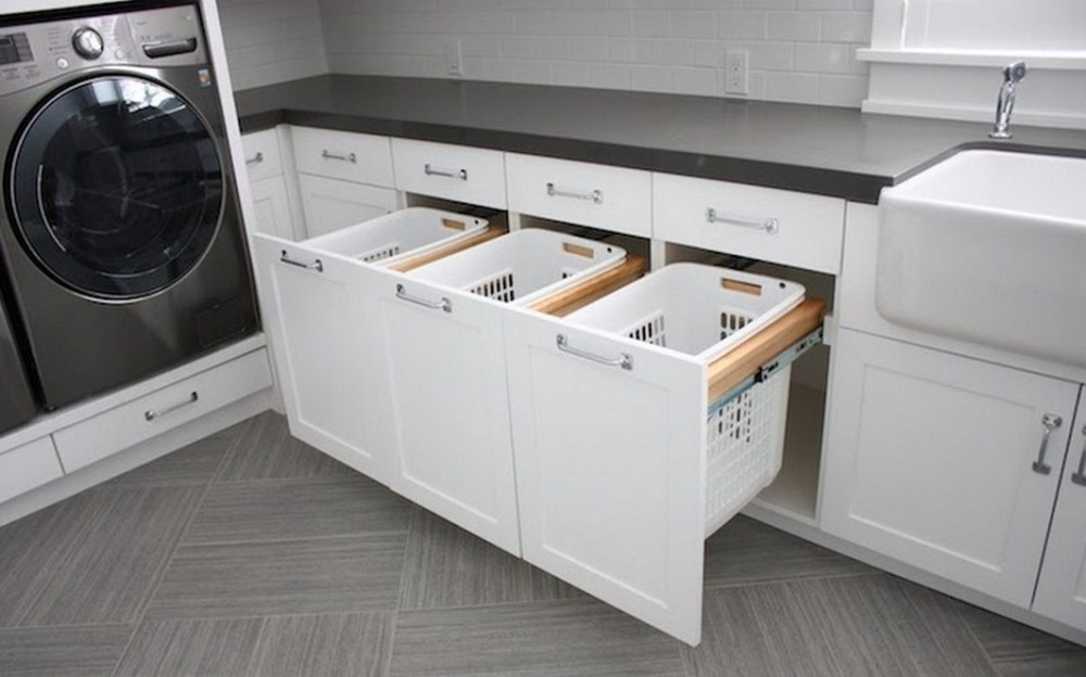 Bathroom Cabinet Laundry Hamper