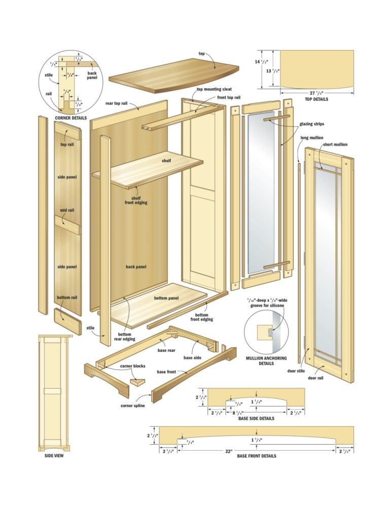 Bathroom Cabinet Plans Woodworking