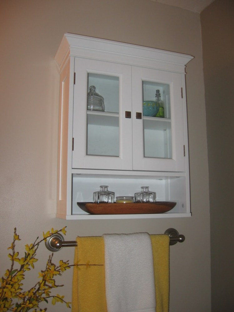 Bathroom Cabinet With Glass Doors