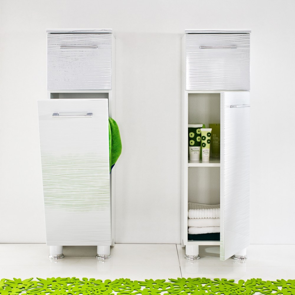 Bathroom Cabinet With Laundry Hamper