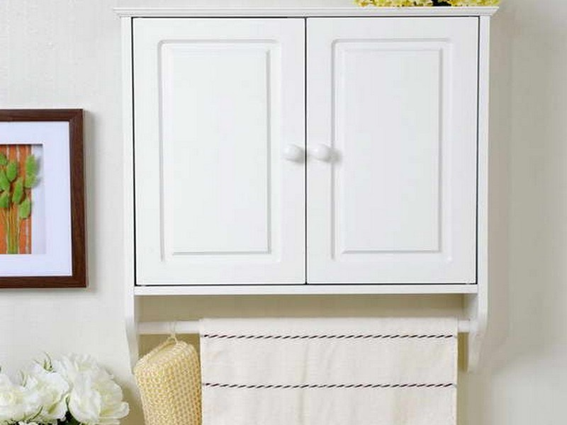 Bathroom Cabinet With Towel Bar