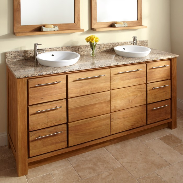 Bathroom Cabinets Double Sink