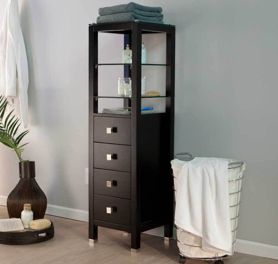 Bathroom Floor Storage Cabinet With Drawers