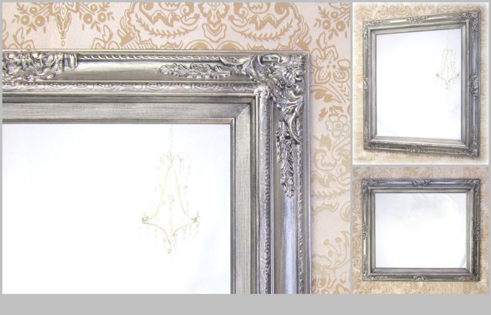 Bathroom Mirror Brushed Nickel Frame