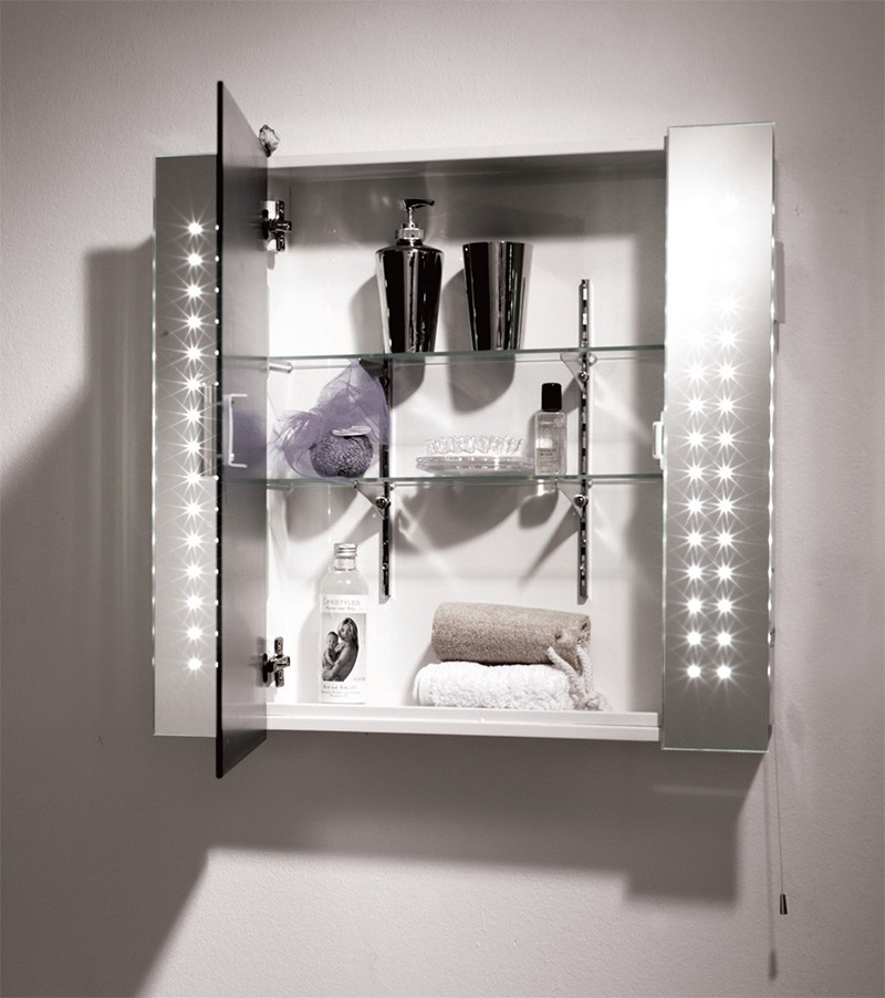 Bathroom Mirror Cabinet With Shaver Socket And Light