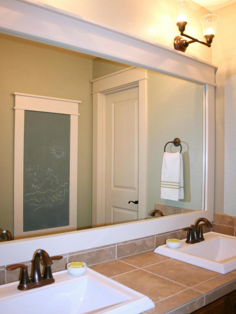 Bathroom Mirror Frame Diy