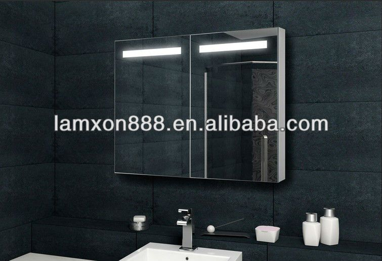 Bathroom Mirror With Led Lights And Shaver Socket