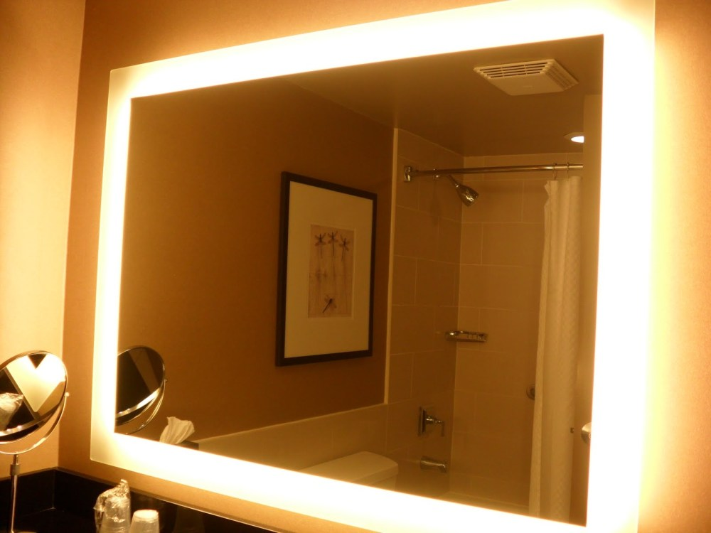 Bathroom Mirror With Lights Behind