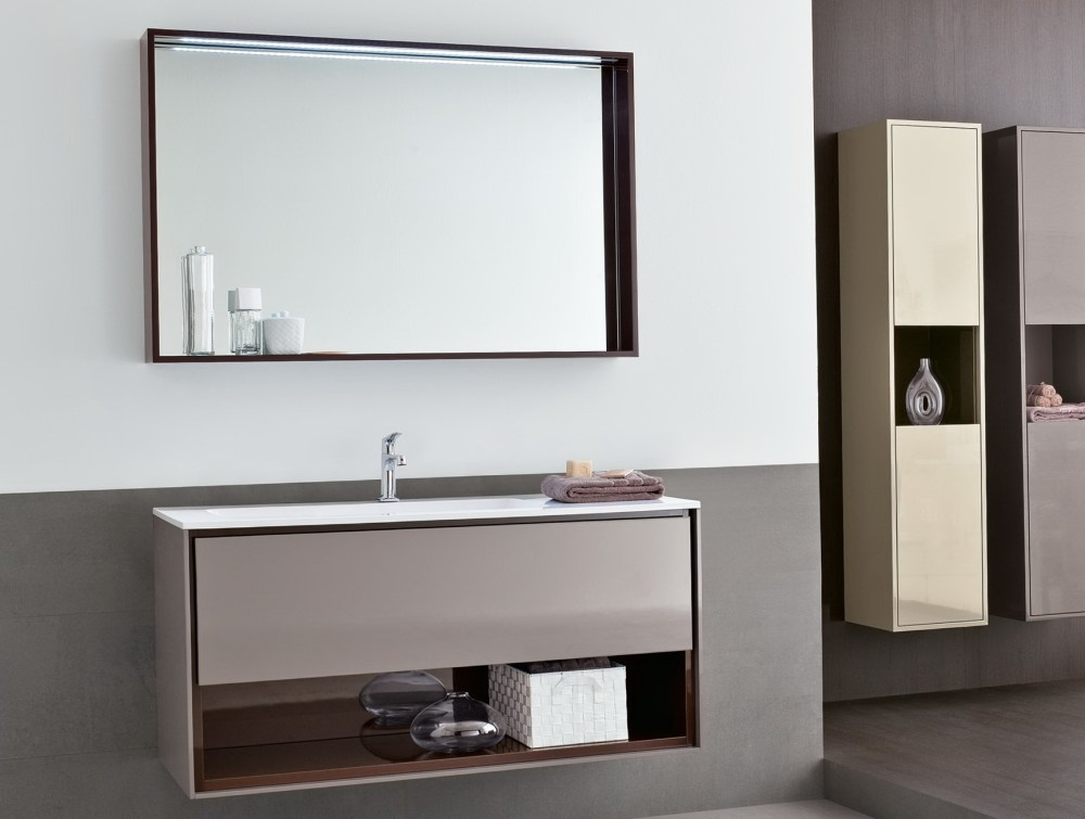 Bathroom Mirror With Side Cabinets