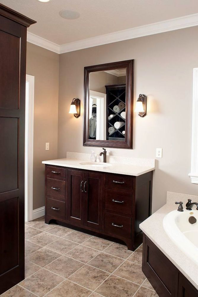 Bathroom Paint Dark Cabinets