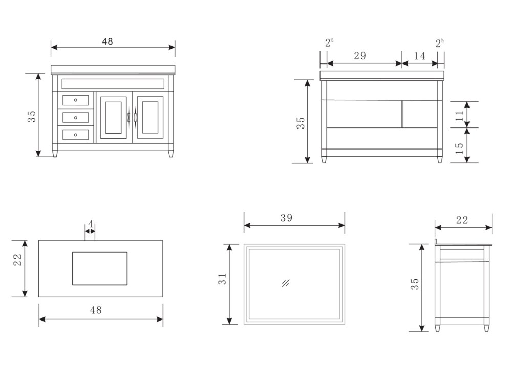 Bathroom Sink Base Cabinet Dimensions
