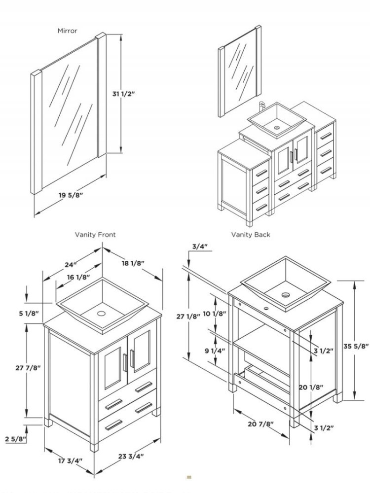 Bathroom Sink Base Cabinet Sizes