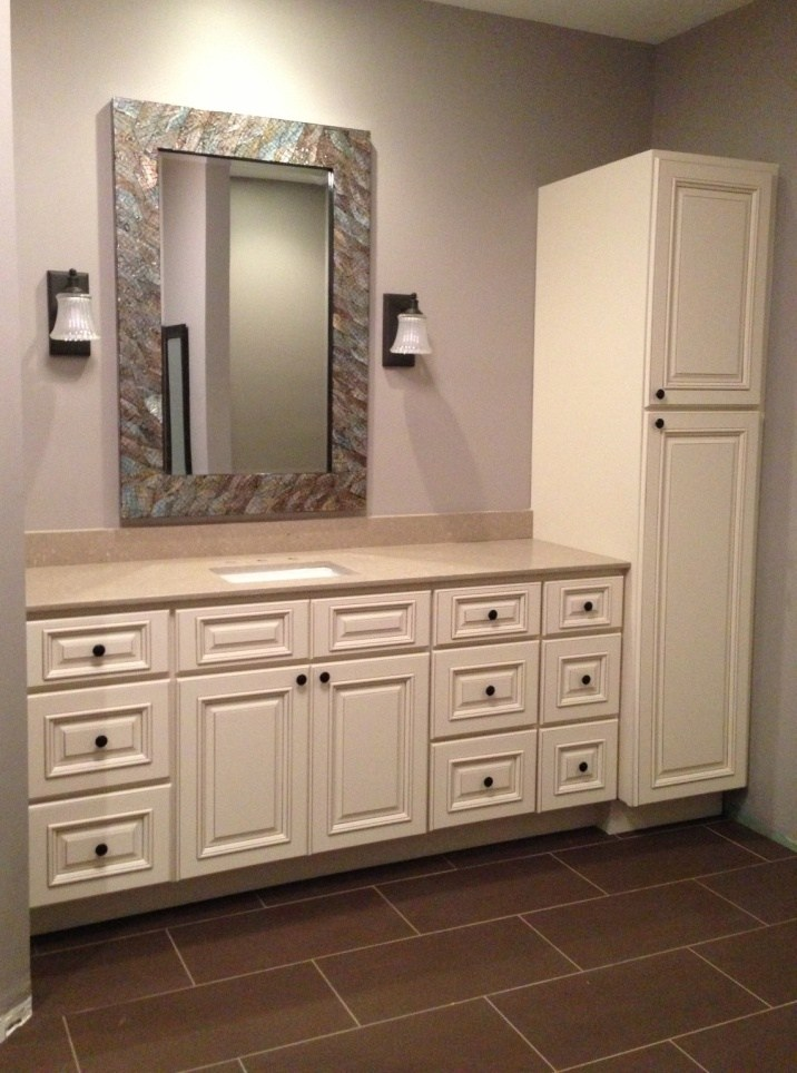 Bathroom Vanity And Linen Cabinet