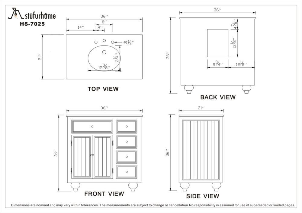 Bathroom Vanity Base Cabinet Dimensions