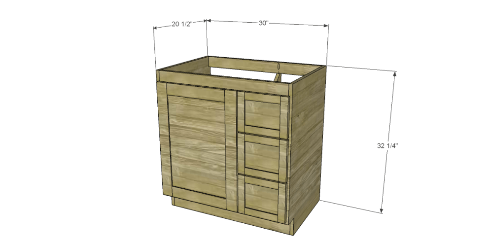 Bathroom Vanity Cabinet Plans