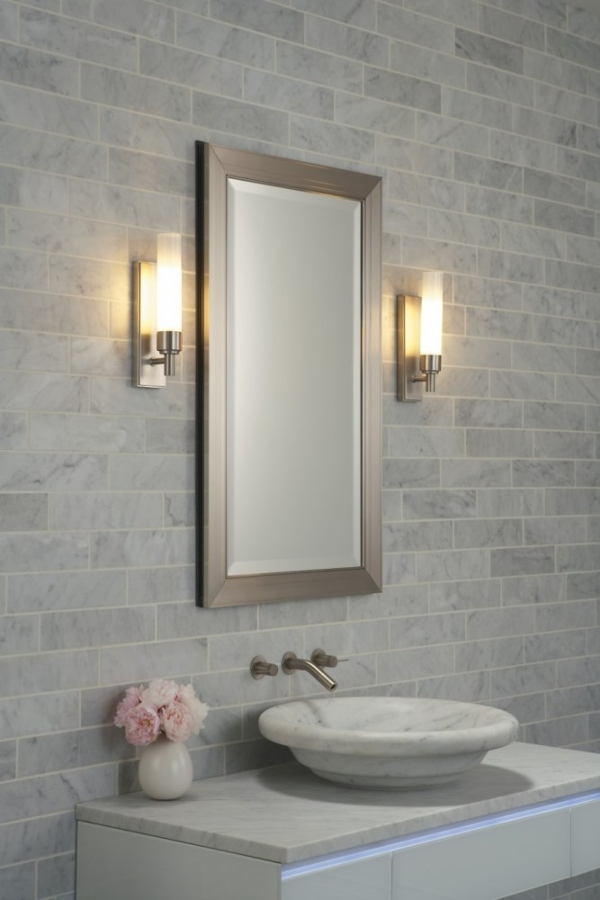 Bathroom Vanity Mirrors Brushed Nickel