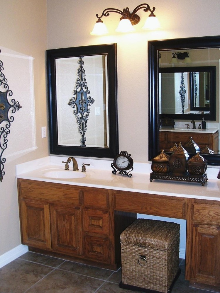 Bathroom Vanity With Two Mirrors