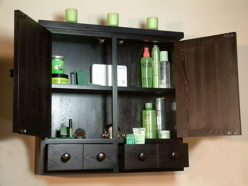 Bathroom Wall Cabinets Black