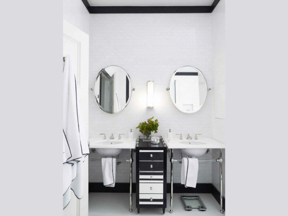 Bathrooms With Framed Mirrors