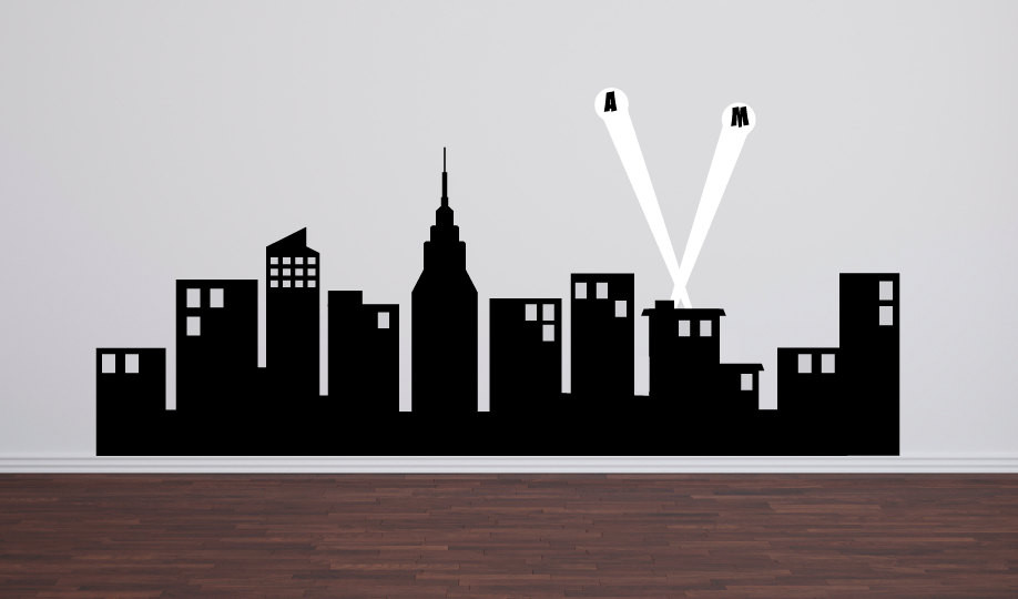 Batman Skyline Wall Decal