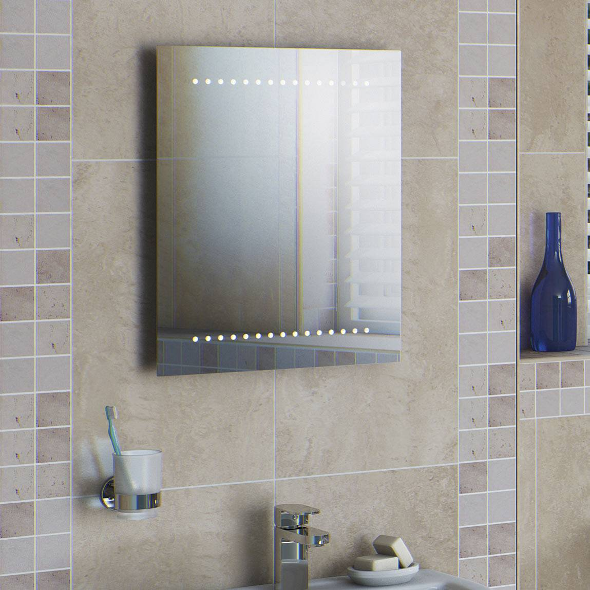Battery Powered Led Bathroom Mirror