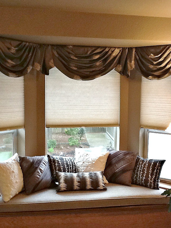 Bay Window Curtains With Valance