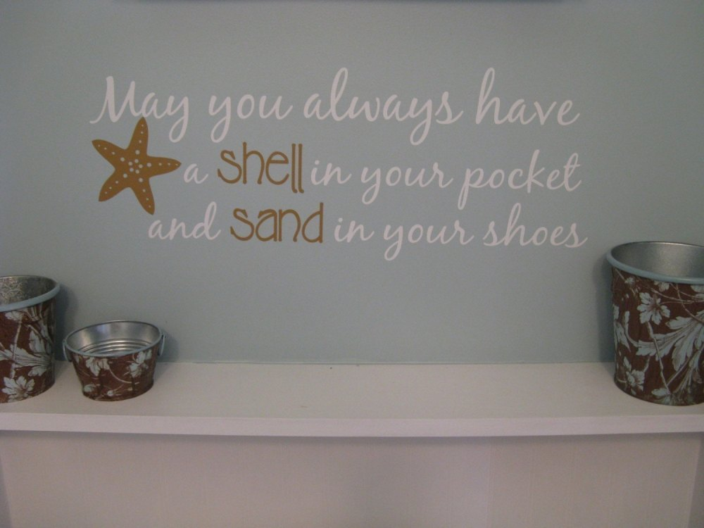 Beach Sayings Wall Decals