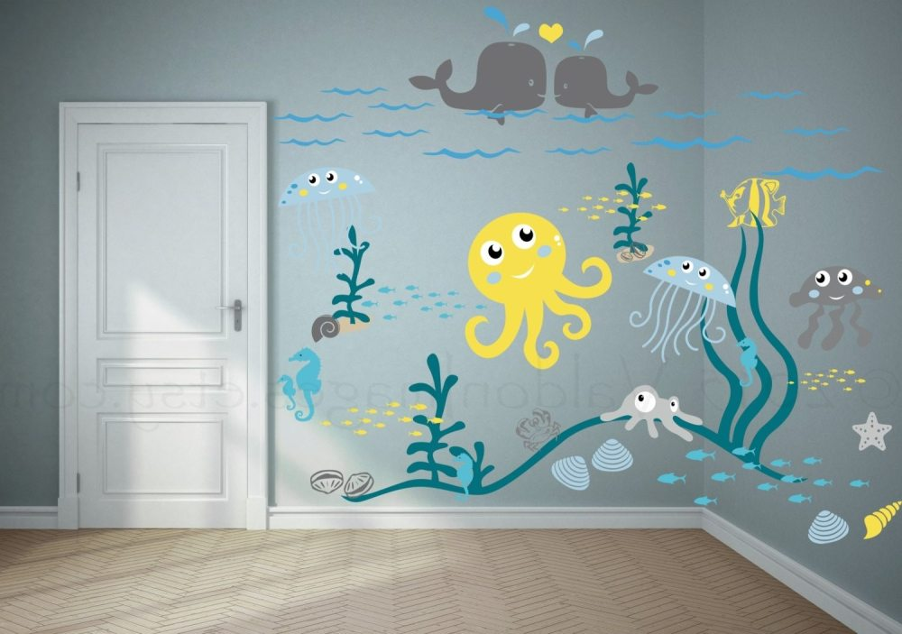 Beach Themed Vinyl Wall Decals