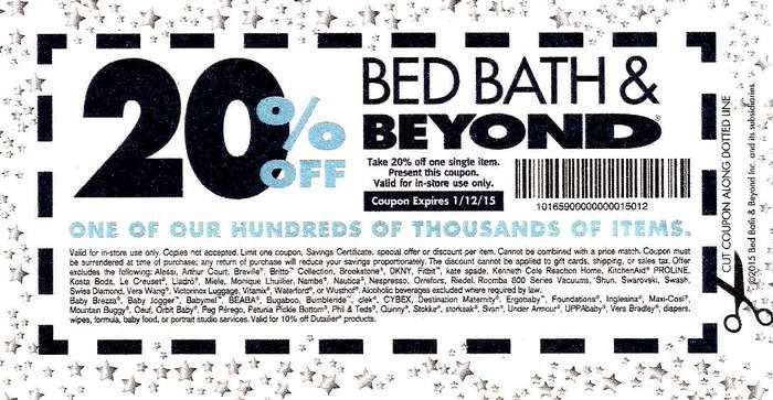 Bed Bath And Beyond 20 Off Coupon
