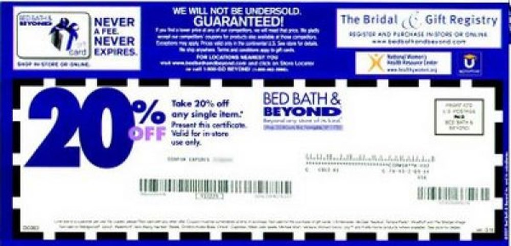 Bed Bath And Beyond Coupon 2016