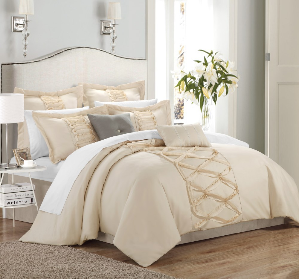 Beige King Comforter Sets