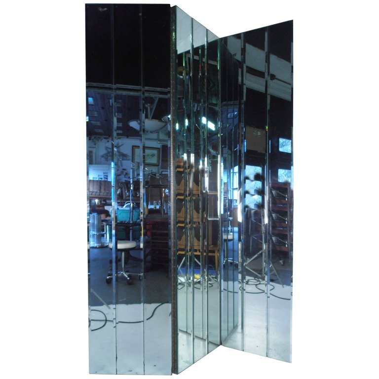 Beveled Mirror Room Divider