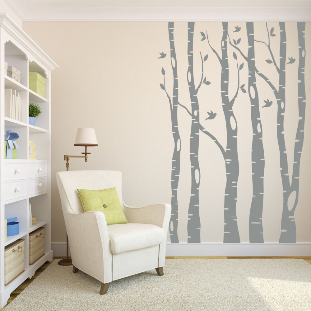 Birch Tree Wall Decal Nursery