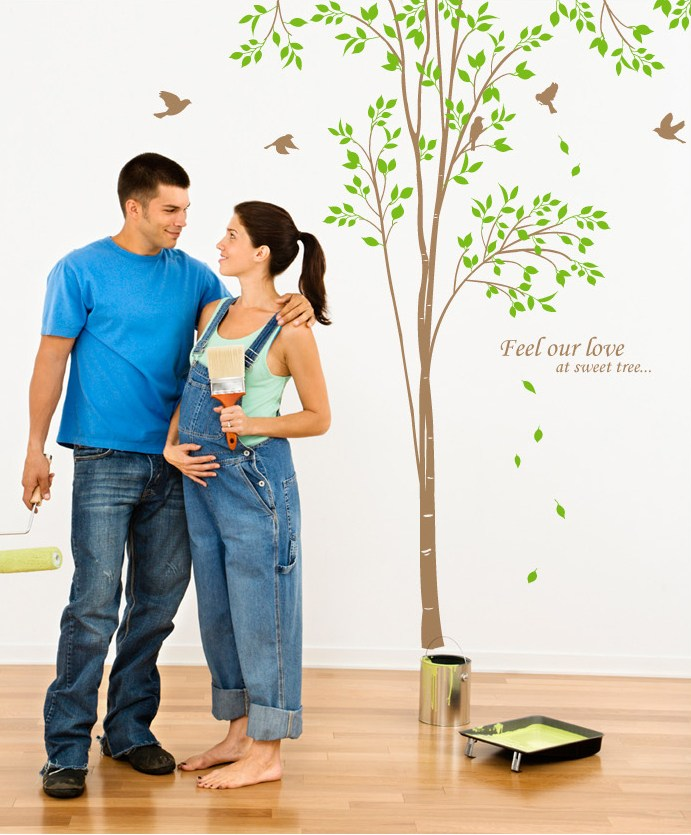 Birch Tree Wall Decals For Nursery