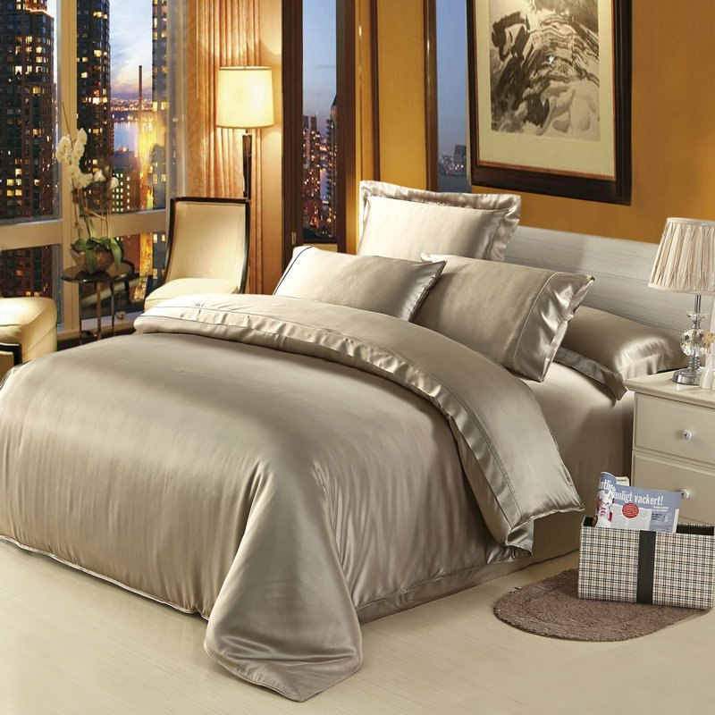 Black And Beige Comforter Set