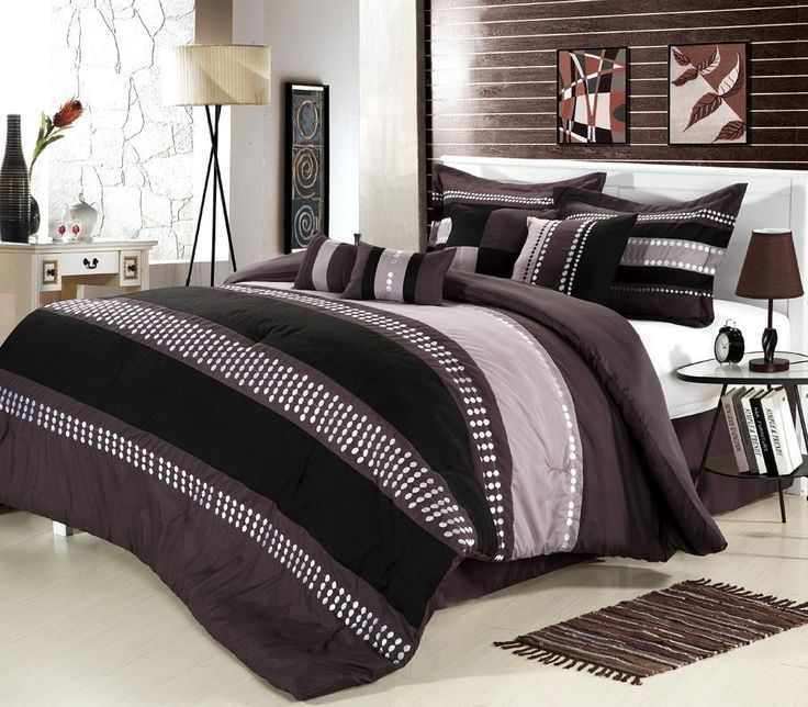 Black And Beige Comforter Sets
