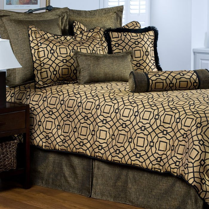 Black And Gold Comforter Set Full