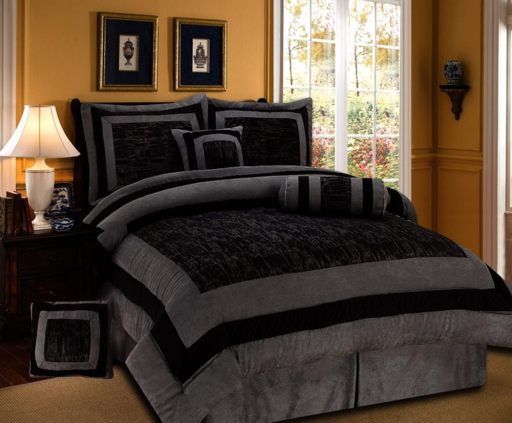 Black And Gold King Size Comforter Sets