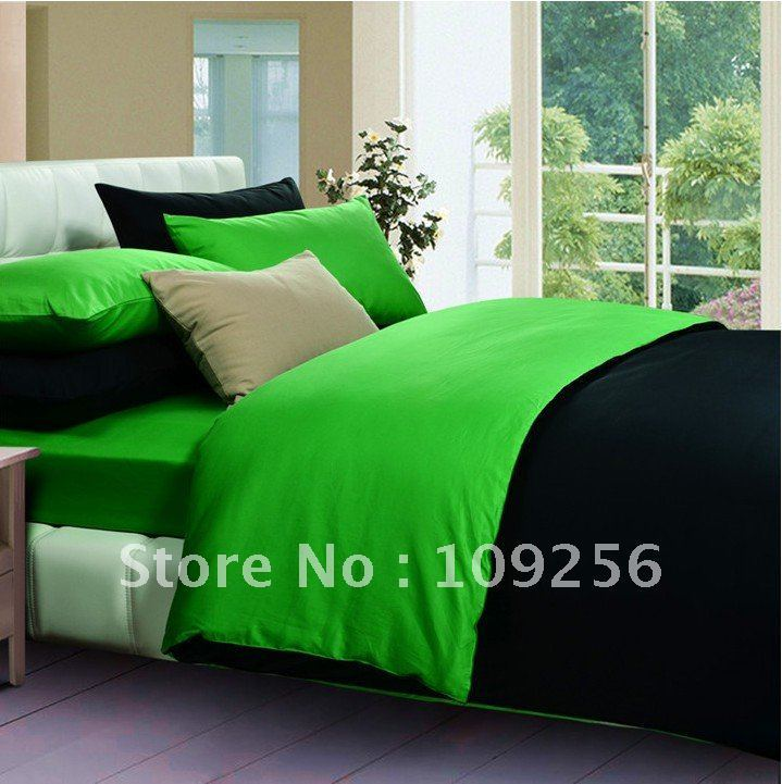Black And Green Comforter Sets