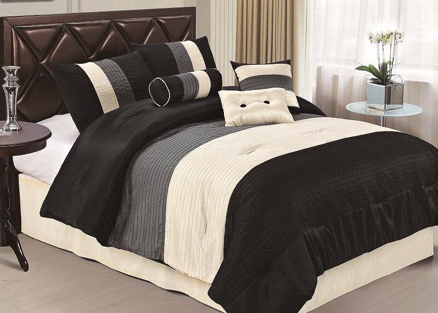 Black And Grey Comforter Set Queen