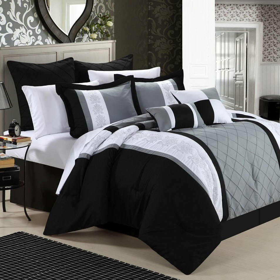 Black And Grey King Comforter Set