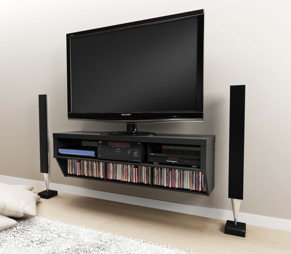 Black And Grey Tv Stand