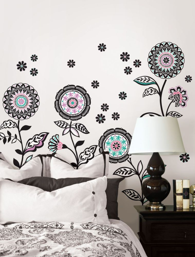 Black And Pink Wall Decals