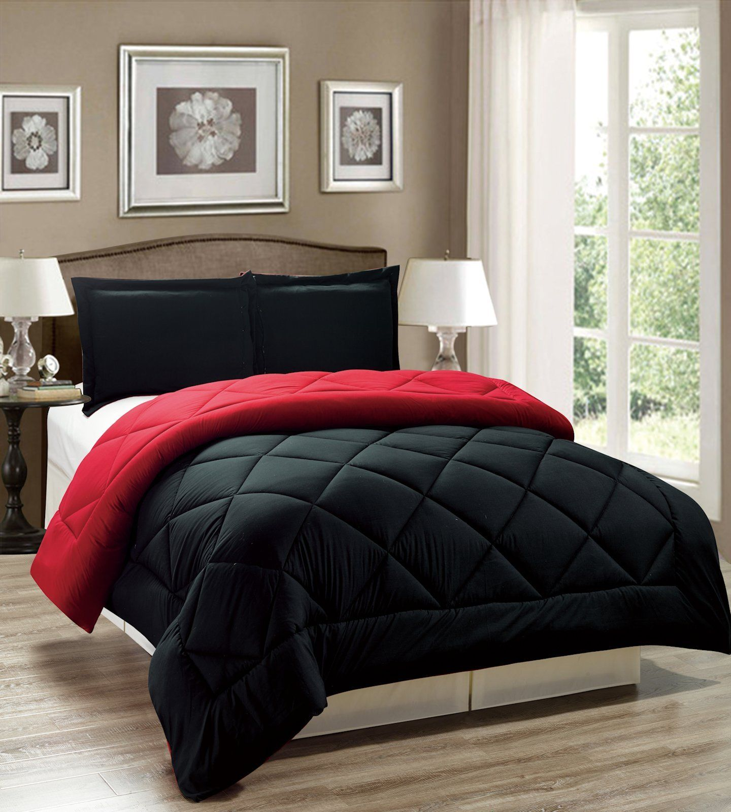 Black And Red Comforter Set Full