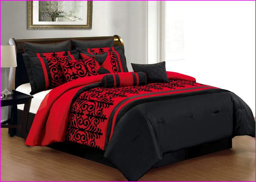 Black And Red Comforter Set
