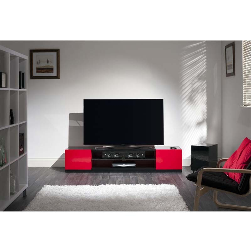 Black And Red Tv Stand