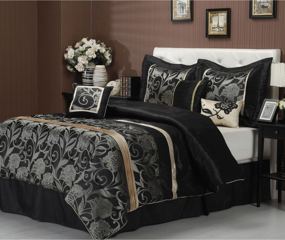 Black And Silver Comforter Set