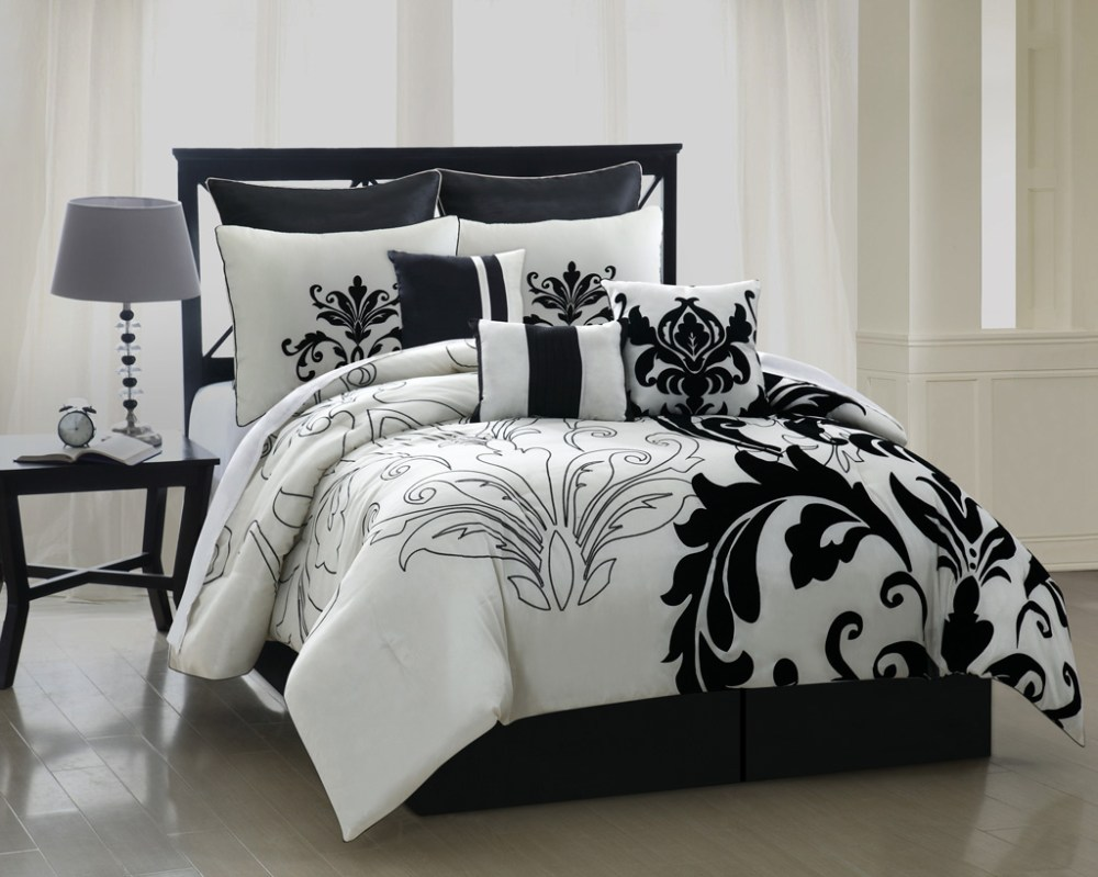 Black And Silver Comforter Sets